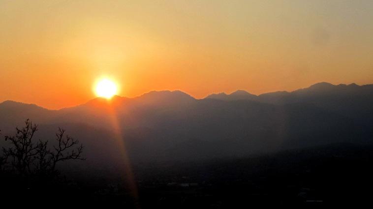 Volunteering Thailand sunset